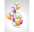 Card to birthday with balloons vector image
