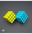 Cube 3d Spheres Composition Technology Style vector image