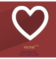 Heart Flat modern web button with long shadow and vector image