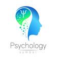 modern head sign of psychology profile human vector image