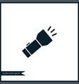 portable flashlight icon simple vector image