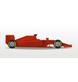 red racing bolid sports car quick transport vector image