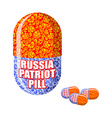 Russian patriotic pill Capsule with national vector image