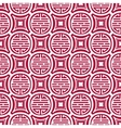 Seamless pattern in the Tibetan style Chinese vector image