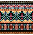Striped ethnic pattern vector image