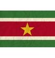Surinam paper flag vector image