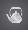 teapot sketch logo doodle icon vector image