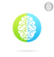 Brain medical icon vector image