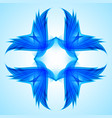 abstraction blue symbol for web design vector image vector image