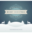 Christmas retro typographic and ornament vector image