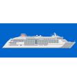 ocean liner on a blue background vector image