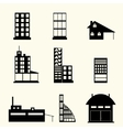 Set of buildings vector image