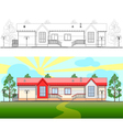 A small building vector image