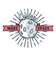 Color vintage space emblem vector image