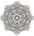 mandala with hand drawn floral henna elements vector image