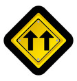 notice warning emblem with sign icon vector image
