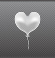 transparent balloon frosted party balloon vector image