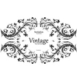 vintage frame for your design vector image