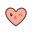 kawaii cartoon heart icon graphic vector image