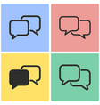 communication bubble icon set vector image