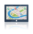 gps navigation device vector image vector image