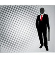 businessman on the abstract background vector image