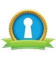 Gold keyhole logo vector image
