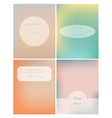 Set of retro invitation card on blurred background vector image