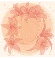 pastel lilies vector image