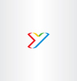 colorful letter y logo stylized icon vector image