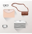 Presentation of accessories womenswear vector image