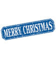 merry christmas blue square vintage grunge vector image