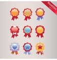 Rosettes set vector image vector image