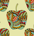 beautiful Patterns apple seamless pattern vector image