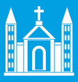 christian catholic church building icon white vector image