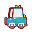 line color tractor farm vehicle plant transport vector image