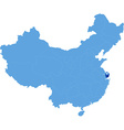 Map of Peoples Republic of China - Shanghai vector image