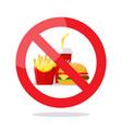 no food symbol vector image