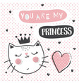 princess cat vector image
