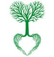 tree of life green heart tree vector image