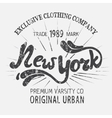 Vintage label with New York City design vector image