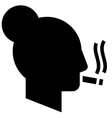 Smoking woman icon vector image vector image