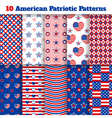 Set of American seamless patterns vector image vector image
