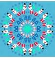 Christmas kaleidoscope vector image