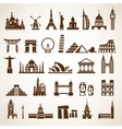 big set of world landmarks and historic buildings vector image