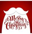 Christmas Typographic Background Santa Beard vector image