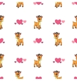 Cute seamless pattern with little cartoon deer vector image