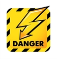 danger button vector image