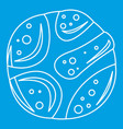 Deserted planet icon outline style vector image