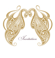 Floral paisley ornament vector image